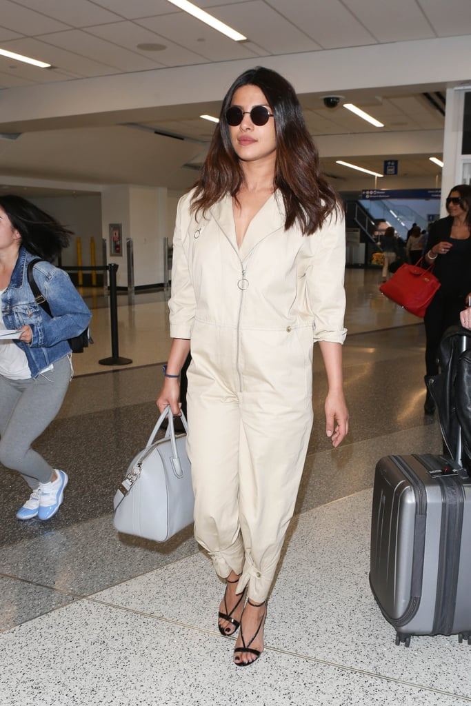 Priyanka Chopra Carrying a Gray Givenchy Antigona Tote Bag