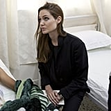 Angelina Jolie in Libya.