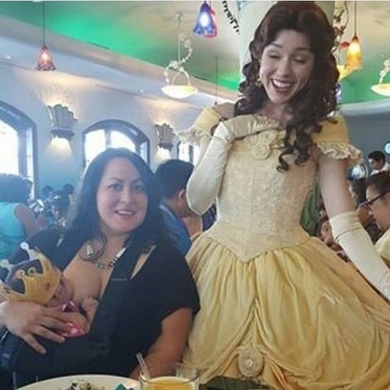 Disney Princess Takes Photo With Breastfeeding Mom