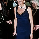 She Wore Them Again With a Catherine Walker Evening Dress at a Fashion Awards Ceremony in NYC in 1995