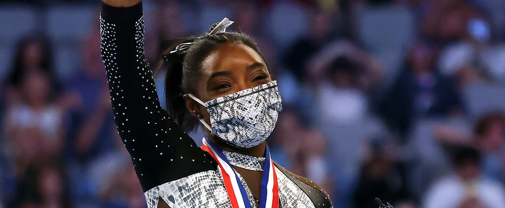 Simone Biles's Floating Eyeliner Makeup While Competing