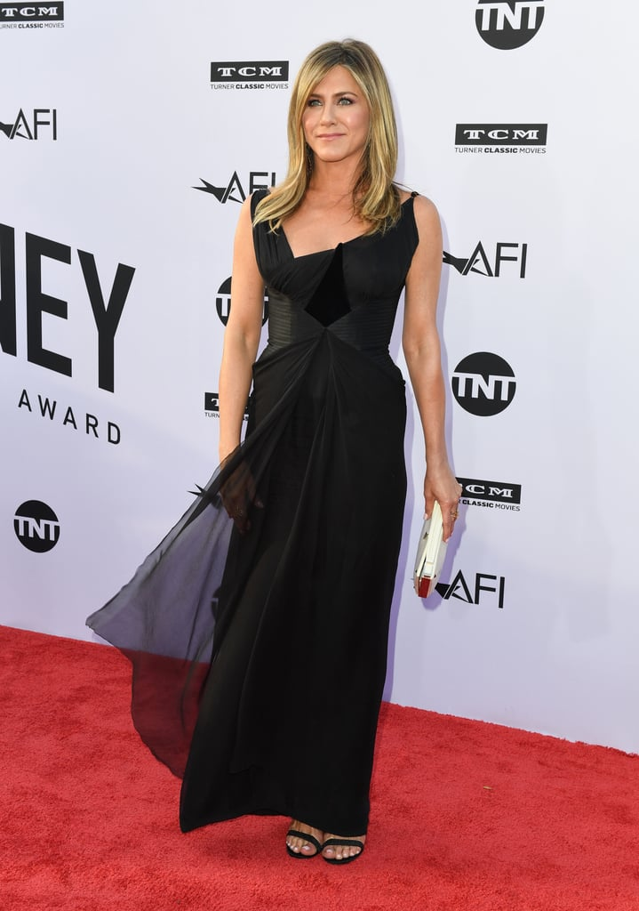 Jennifer Aniston Black Christian Lacroix Dress