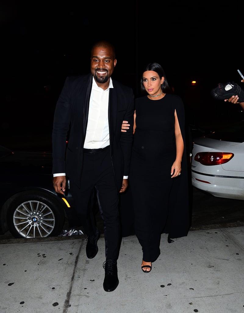 Kim Kardashian and Kanye West Attend a Wedding 2015