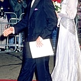 Charles and Diana walked the red carpet in 1985 for the premiere of A View to a Kill.