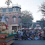 A Christmas Fantasy parade features a procession of princesses, tin soldiers, Disney favorites, and Santa Claus himself!