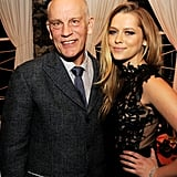 Teresa Palmer joined costar John Malkovich at the afterparty.