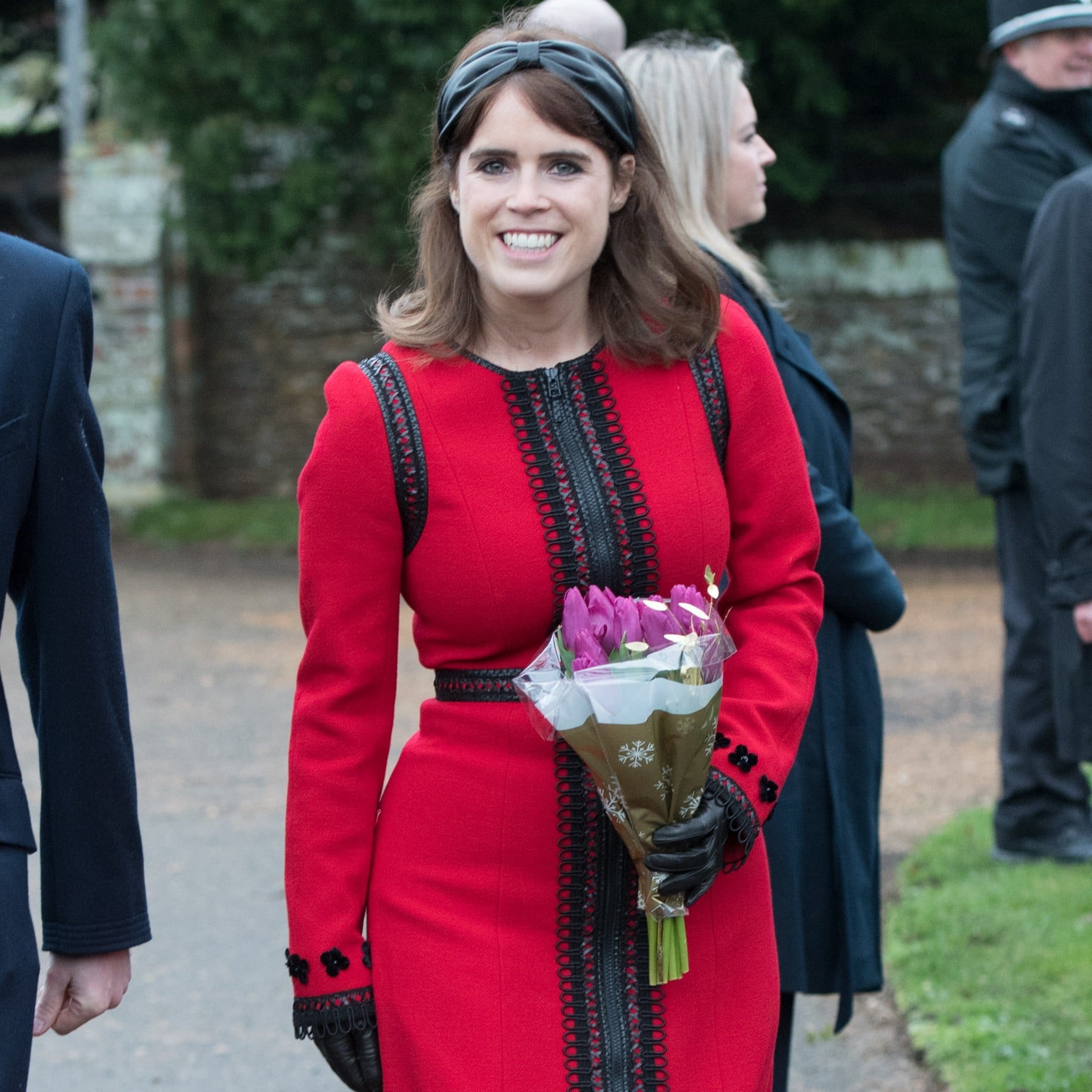 e004cb5719fa Princess Eugenie Red Dress on Christmas Day 2018 | POPSUGAR Fashion