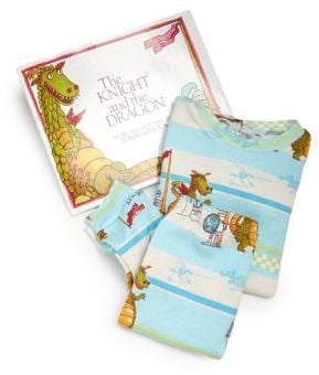 Books To Bed Toddler's & Little Boy's The Knight and the Dragon Pajamas & Book Set