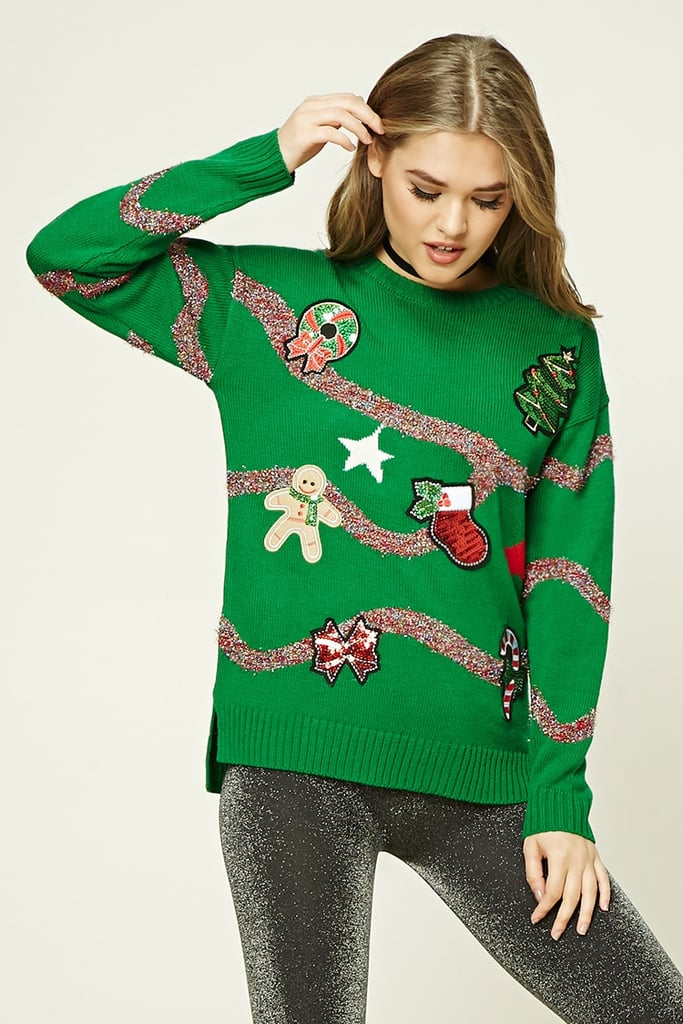 Forever 21 Patched Holiday Sweater ($23)