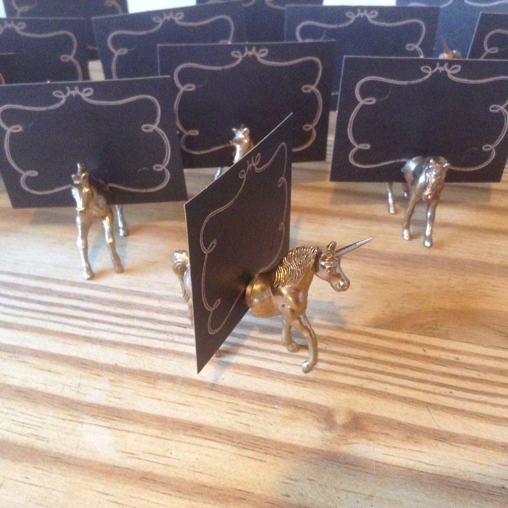 Unicorn Place Card Holders