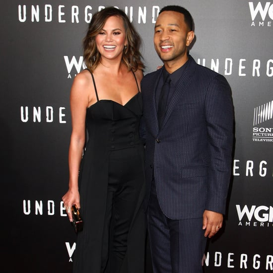 Chrissy Teigen and John Legend at Underground Premiere 2017