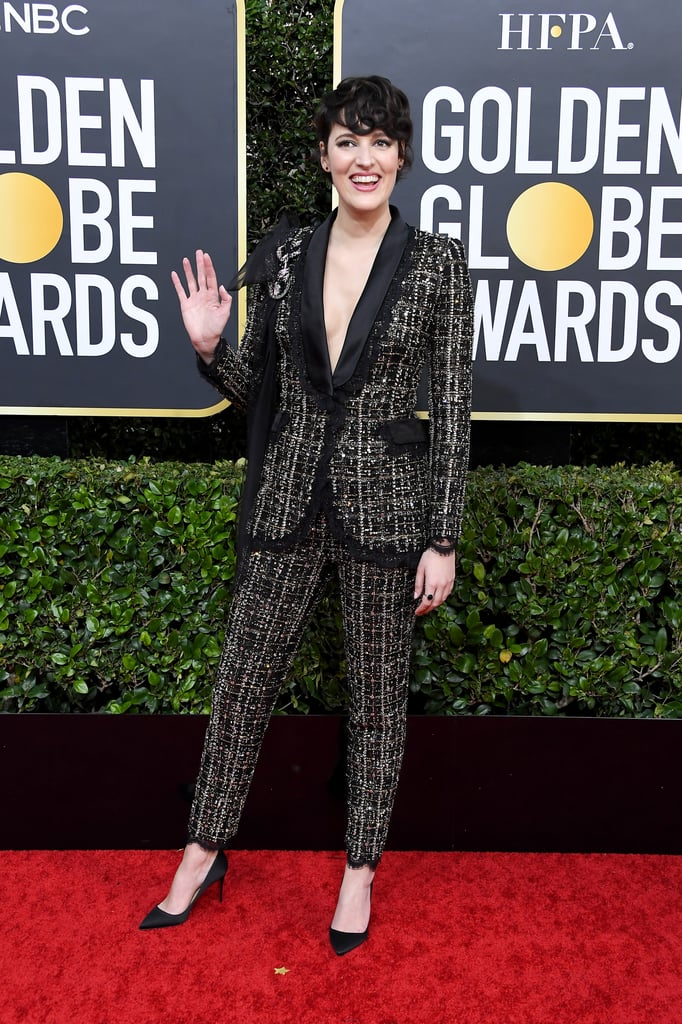 Phoebe Waller-Bridge Rocked a Tweed Power Suit at the Globes