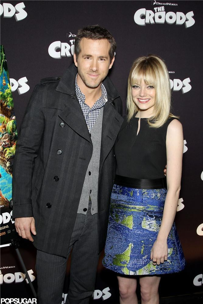 Ryan Reynolds and Emma Stone posed together in NYC.