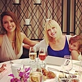 Jessica Alba had a Mother's Day brunch with her mom and family. Source: Instagram user jessicaalba