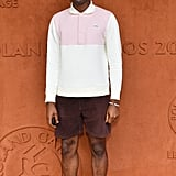 At the 2019 French Tennis Open, Tyler wore a Lacoste shirt he designed with a pair of matching pink sneakers.