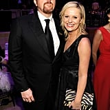 Amy Poehler gave a big smile with Louis CK at the Time 100 gala in NYC.