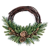 National Tree 16 Inch Pine Cone Grapevine Wreath