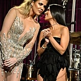Khloe and Kourtney Kardashian at the Angel Ball in NYC