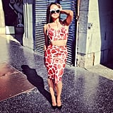 Kat Graham struck a seductive pose on Hollywood Boulevard during a photo shoot. Source: Instagram user katgrahampics