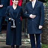 Meghan Markle Fall Outfit Idea: A Navy Dress and Matching Coat