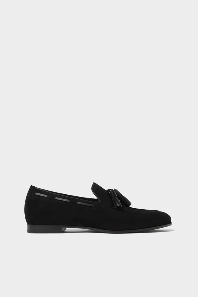 Zara Black Leather Loafers