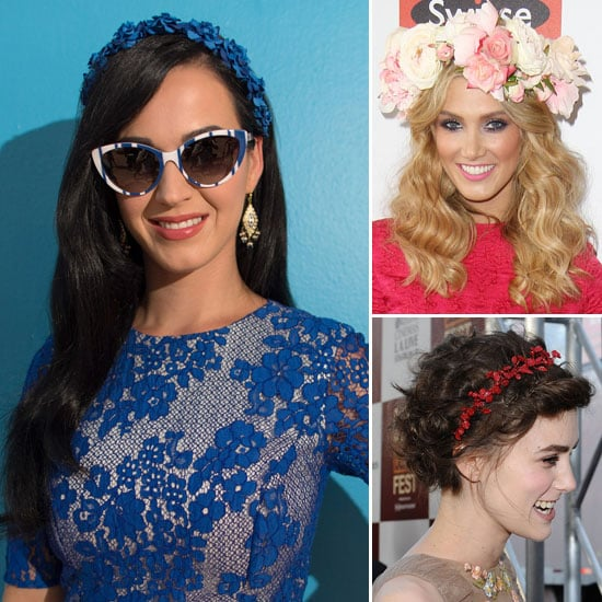 Katy Perry Joins the Floral Crown Brigade
