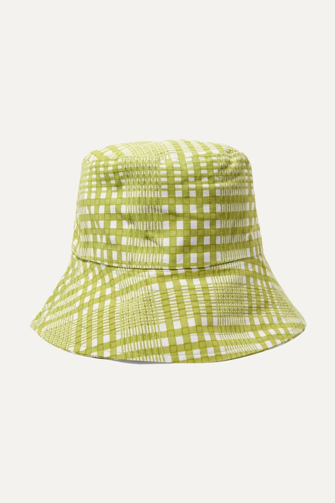 Faithfull the Brand Checked Cotton-Canvas Bucket Hat