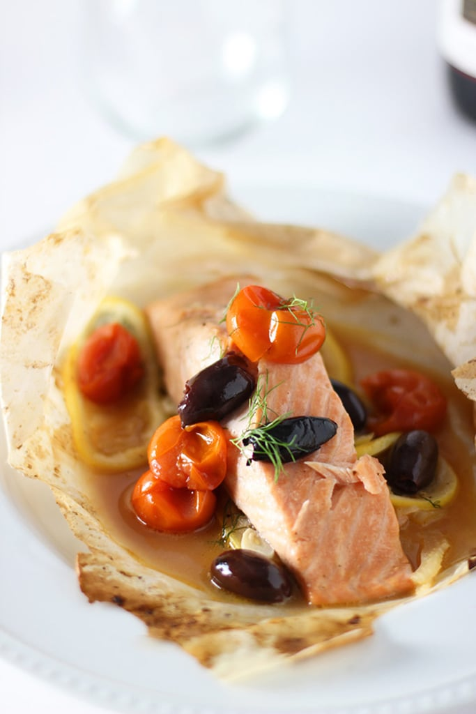 Salmon en Papillote With Fennel, Tomatoes, and Olives
