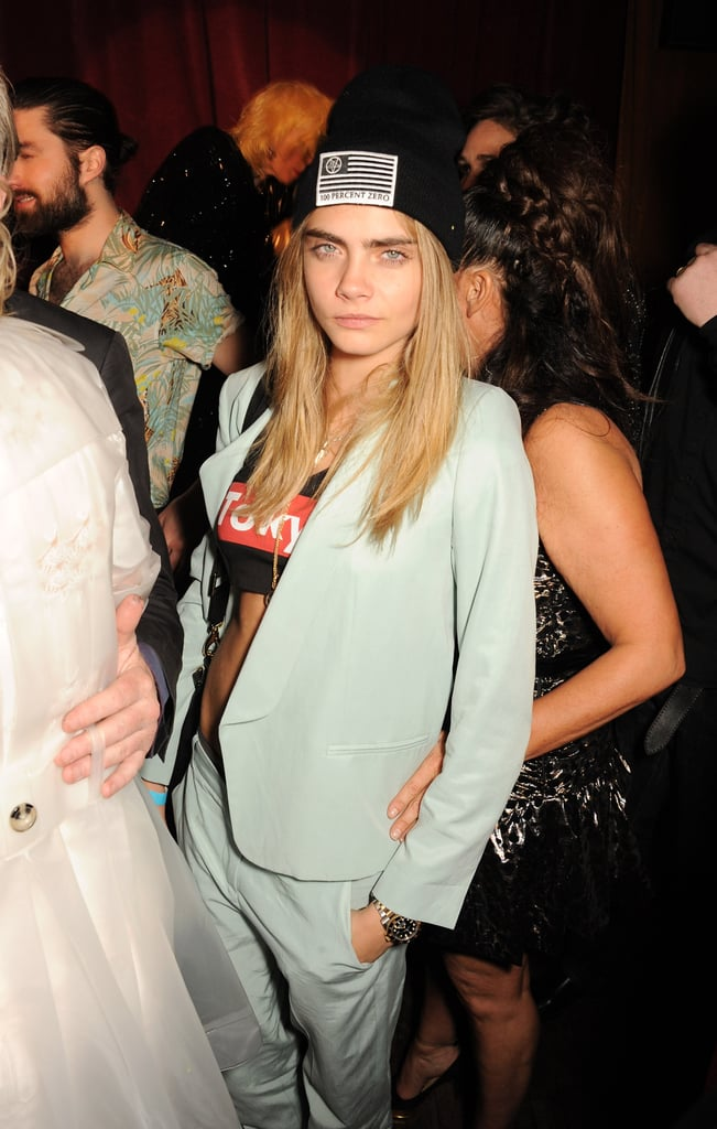 Cara Delevingne attended Fran Cutler's surprise birthday party.
