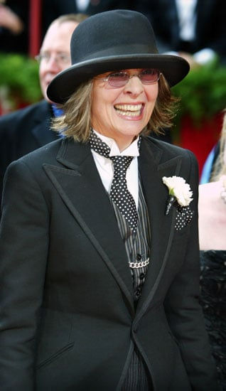 """Wearing a signature hat at the 2004 Academy Awards.<br /> <span style='font-size:10px !important;'><a href=""""http:/..."""