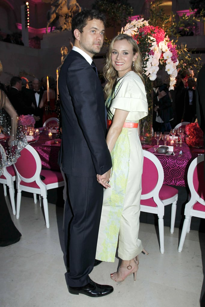 Diane Kruger smiled and held hands with Joshua Jackson at a June 2011 charity event in Paris.