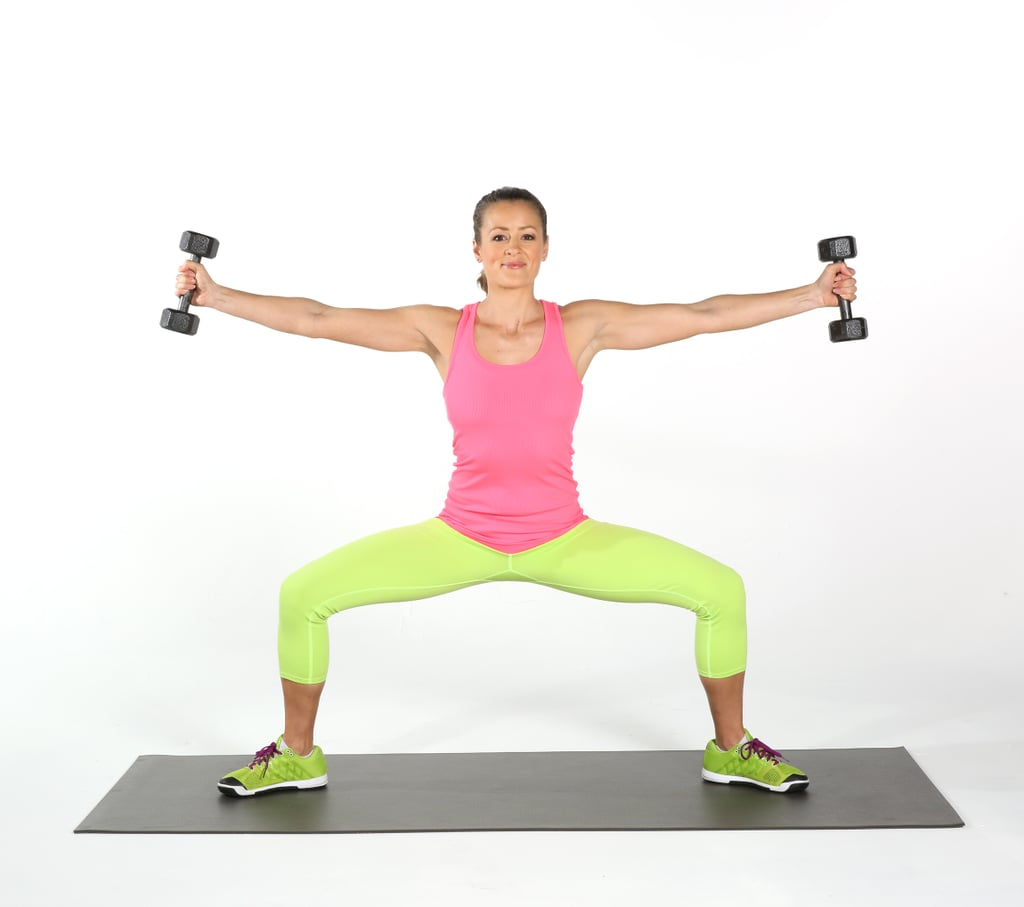 Sumo Squats With Side Arm Raise