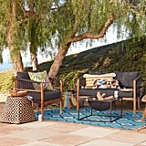 Black Nautical Rope Cambria Outdoor Occasional Chair
