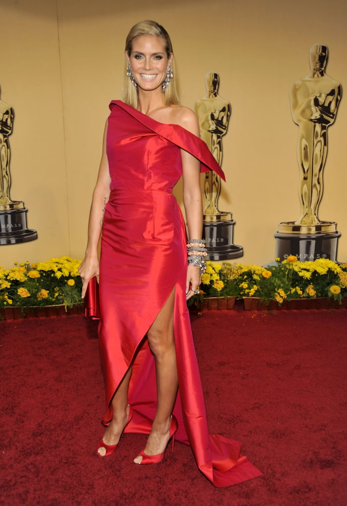 Heidi Klum in a Red Roland Mouret at the 2009 Oscars