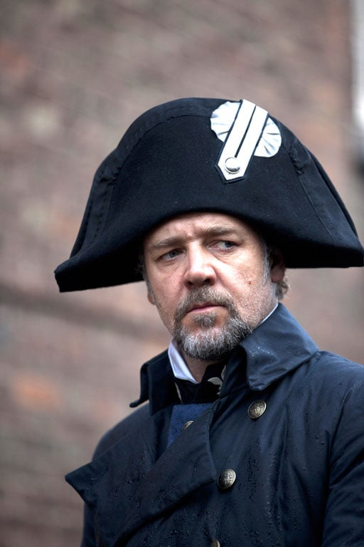 Russell Crowe as Javert in Les Misérables.