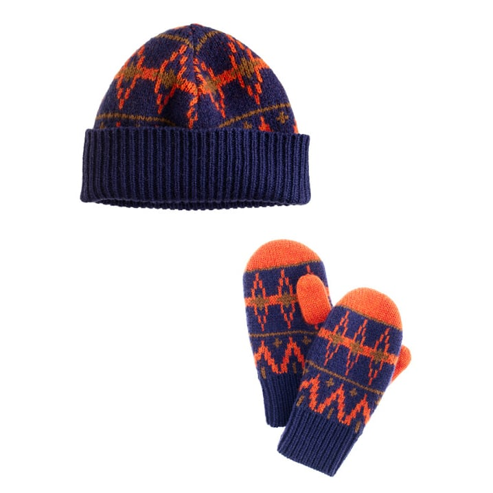 Pair the J.Crew Boys' Fair Isle Hat ($30) and Fair Isle Mittens ($25) for a bright, modern version of the classic pattern.