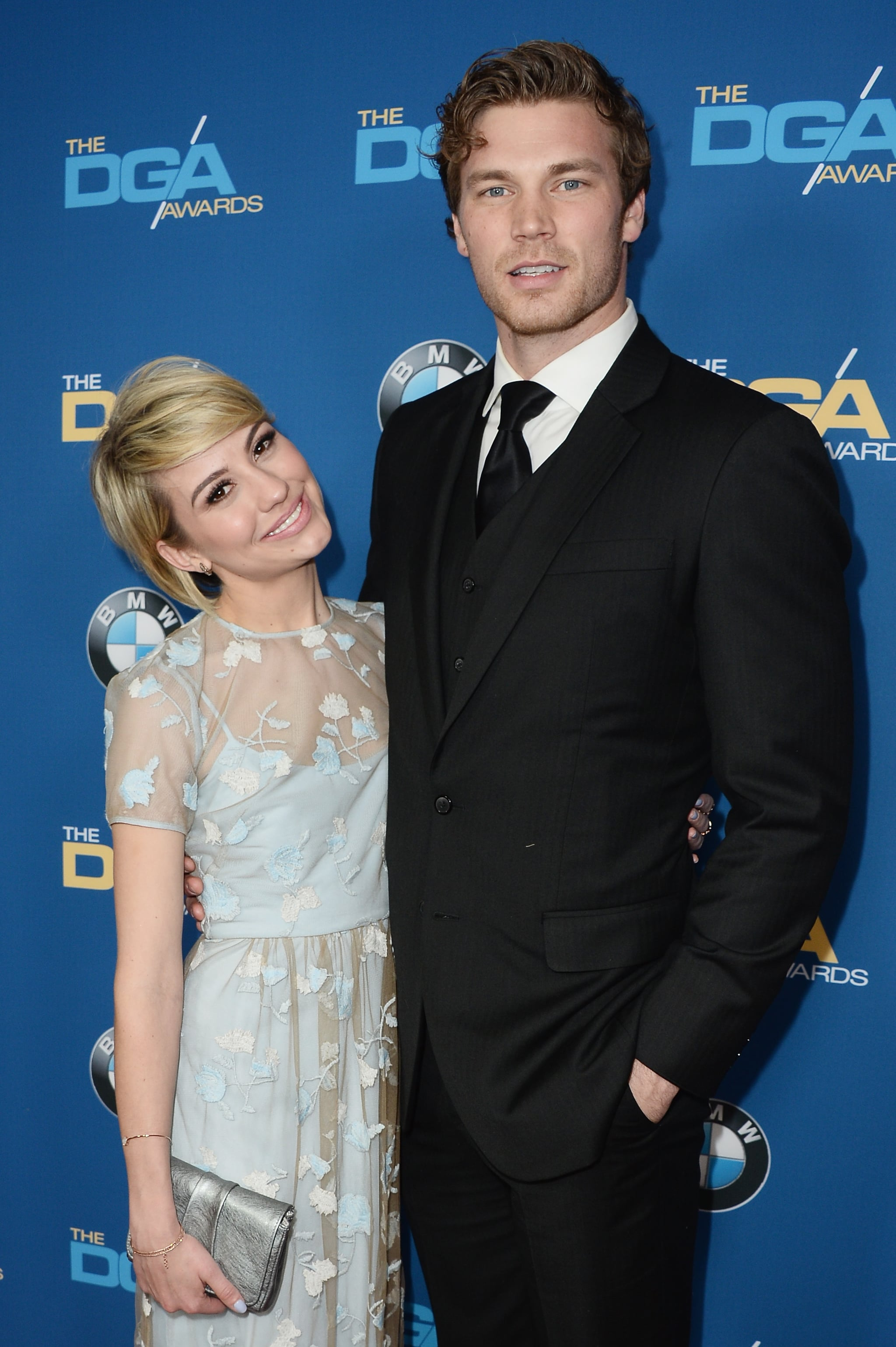 Chelsea Kane posed with Derek Theler on the red carpet ...