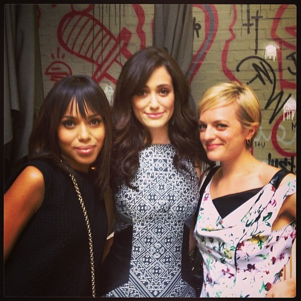 Kerry Washington caught up with Emmy Rossum and Elisabeth Moss this week. Source: Instagram user kerrywashington