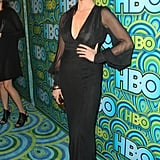 Lara Flynn Boyle went for a dramatic look at the 2013 HBO Emmys afterparty.