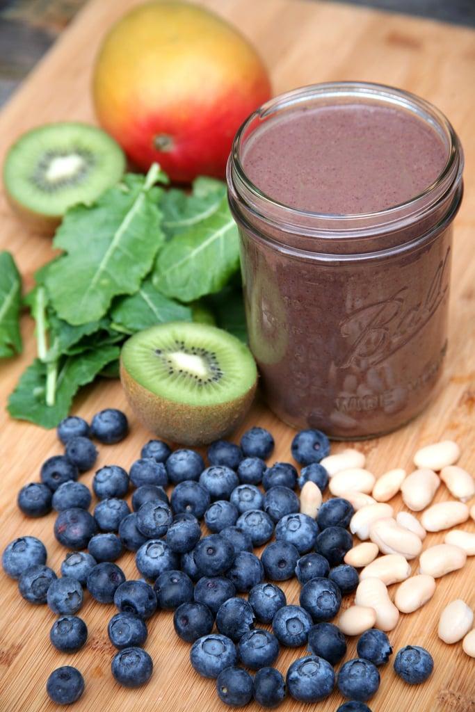 Blueberry Mango Kiwi Kale Smoothie