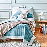 Zara Home Velvet Quilt With Linen Edge