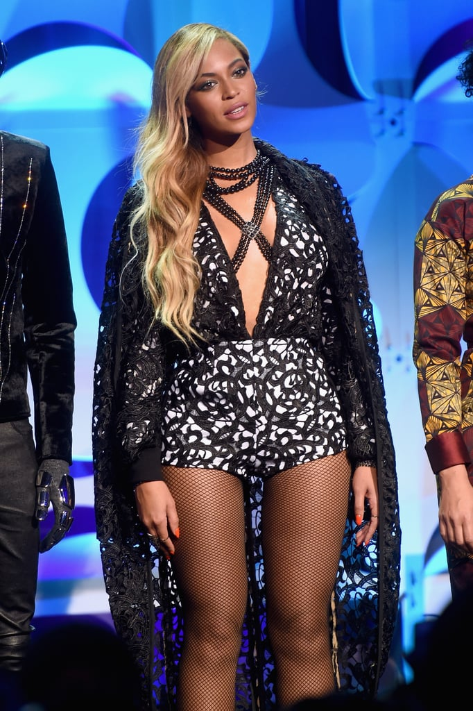 Beyonce Wearing a LaQuan Smith Bodysuit at Tidal Launch 2015