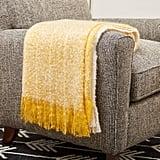 Rivet Super Soft Oversized Ombre Stripe Weave Throw Blanket