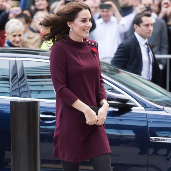 Kate Middleton Red Goat Dress