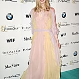 Elle Fanning smiled widely at the Women in Film party.