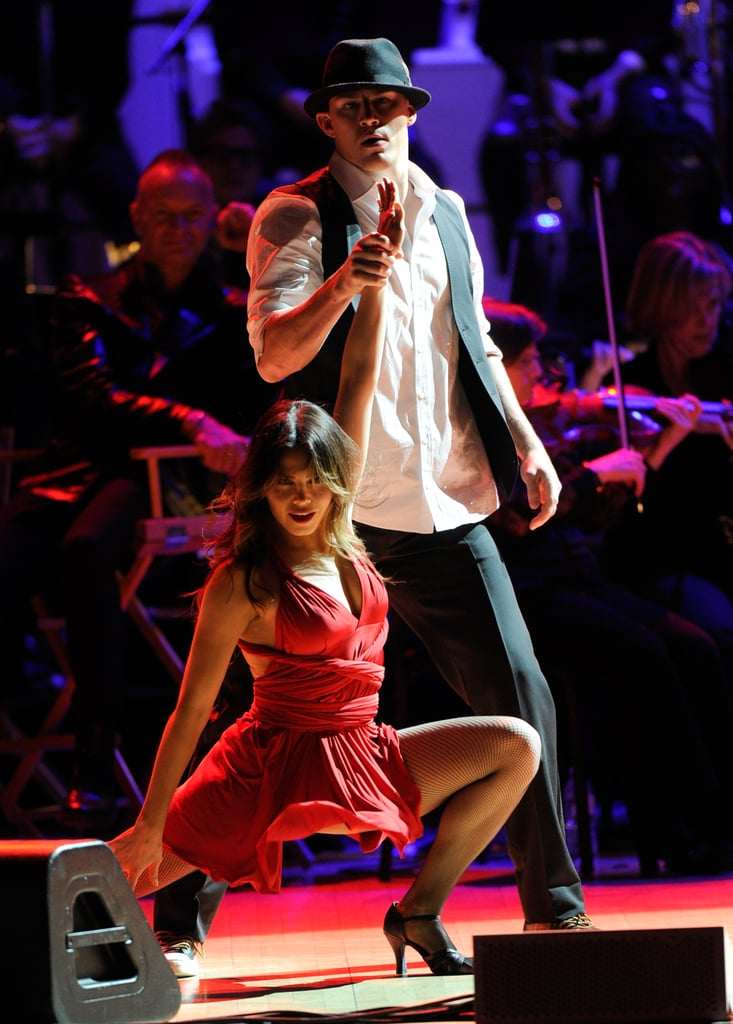 Channing Tatum and Jenna Dewan ended their performance at the Revlon Concert for the Rainforest Fund at Carnegie Hall in NYC.