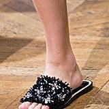 A spiky shoe that's not at all uncomfortable to slide into.