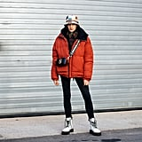 Winter Outfit Idea: A Puffer Jacket and Combat Boots
