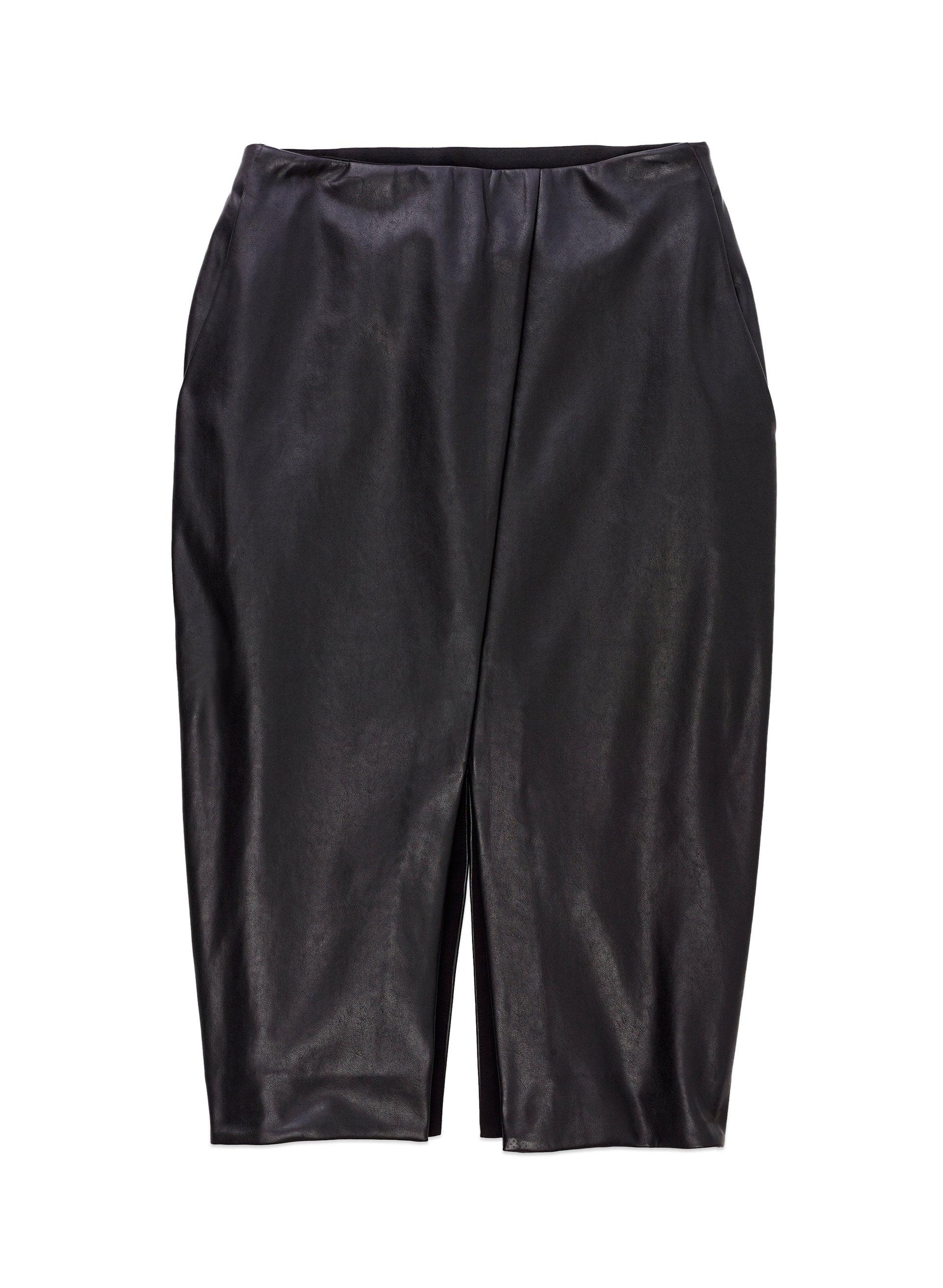 Aritzia Slit Leather Skirt