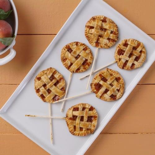 Miniature Peach Pie Pops
